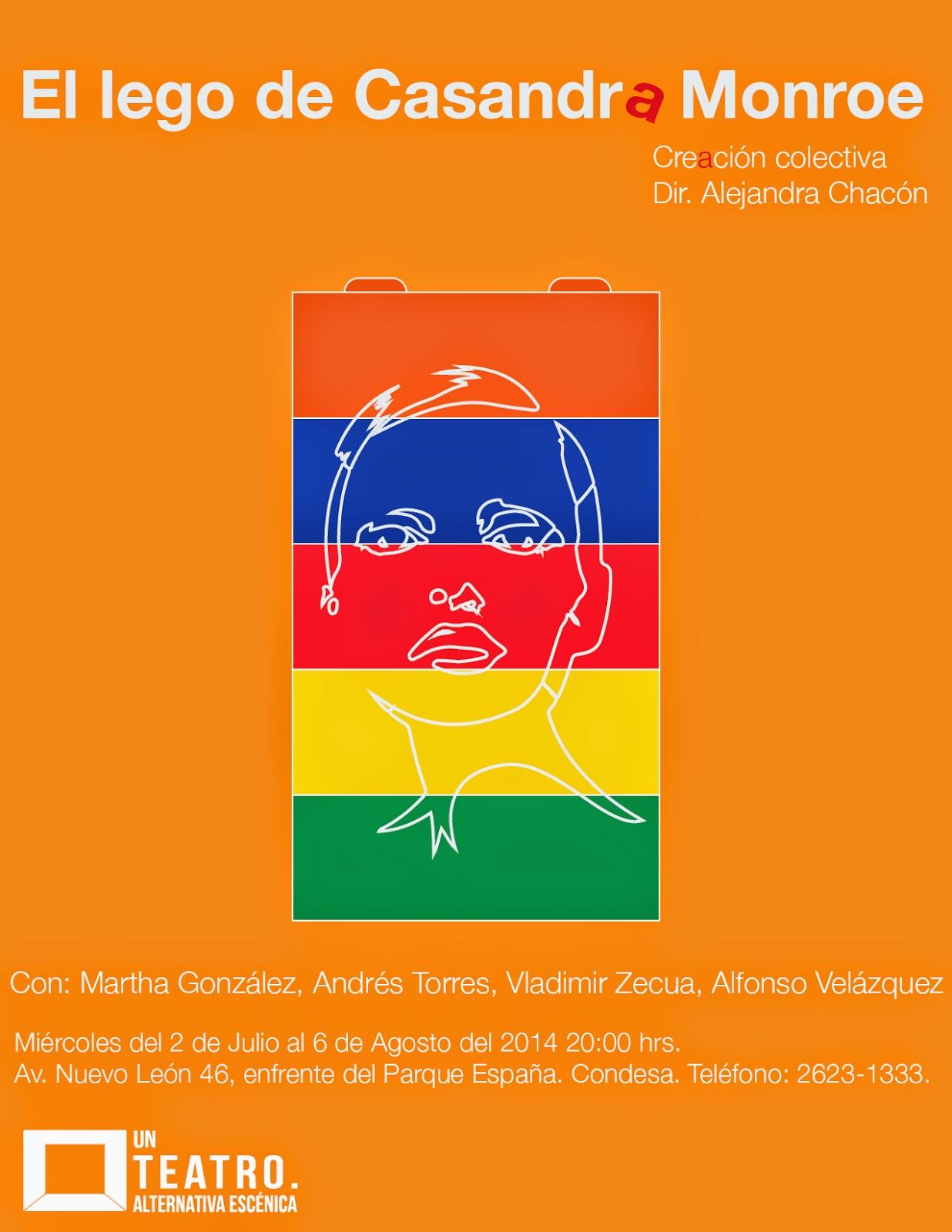 El lego de Casandra Monroe en Un Teatro. Alternativa Escénica