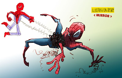 spiderman fighting against himself