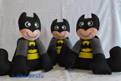 Super heróis em feltro
