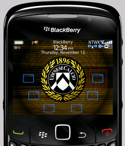 Javelin Storm Udinese Themes Blackberry Curve Free Download