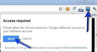 Allow Access to your adsense account