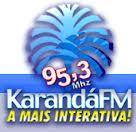 ouvir a Rádio Karandá FM 95,3 ao vivo e online Naviraí MS