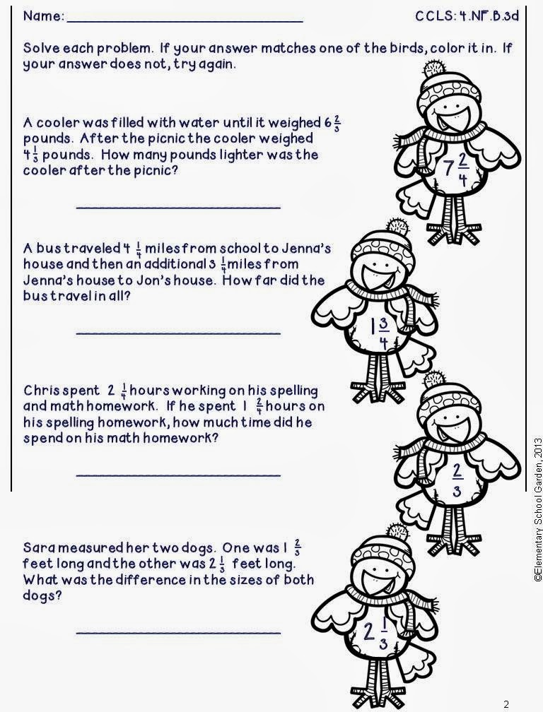 Elementary School Garden Enter to Win a Pack of My NEW Winter – Math Winter Worksheets