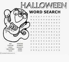 free printable halloween word searches 3 - Halloween Word Searches For Kids