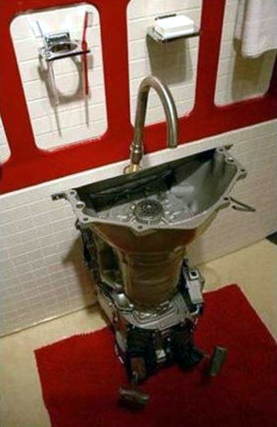 Small Garage Sink : ... decorating with car parts art for the garage, or Car Guy bachelor pad
