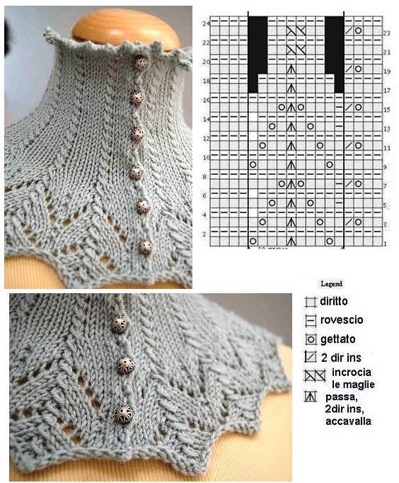 Patron de cuello a crochet - Imagui
