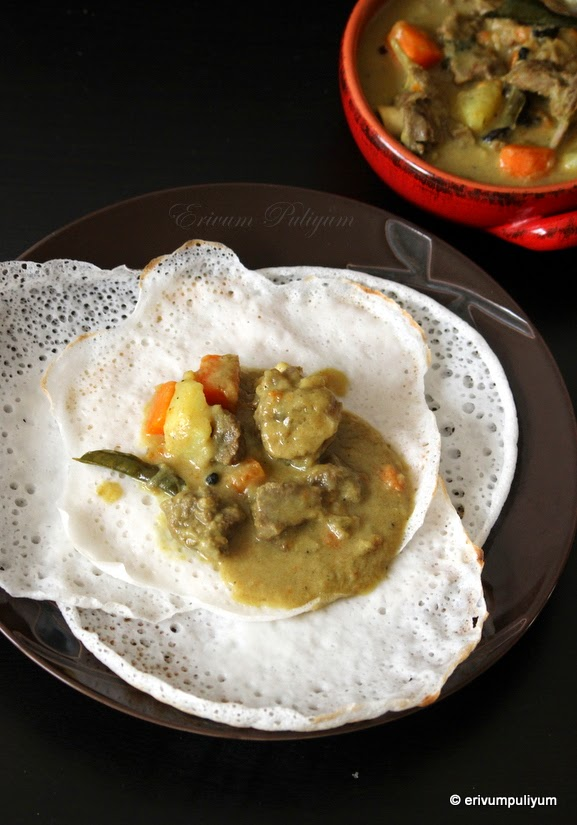 What did you eat today for Appam and chicken stew kerala cuisine