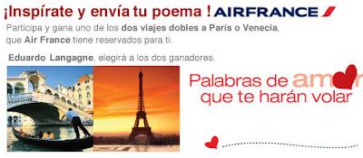 premios viajes venecia paris promocion air france mexico 2011