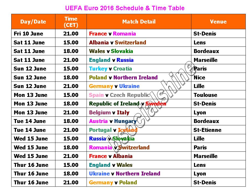 Related keywords suggestions for soccer schedule 2016 - European football tables latest ...
