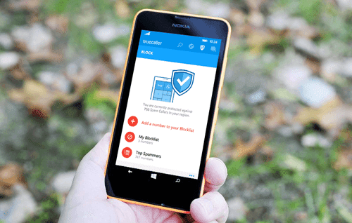 Truecaller app on Lumia 630