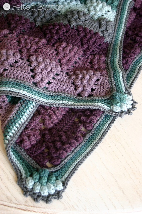 Felted Button - Colorful Crochet Patterns: Vintage Vineyard Blanket ...