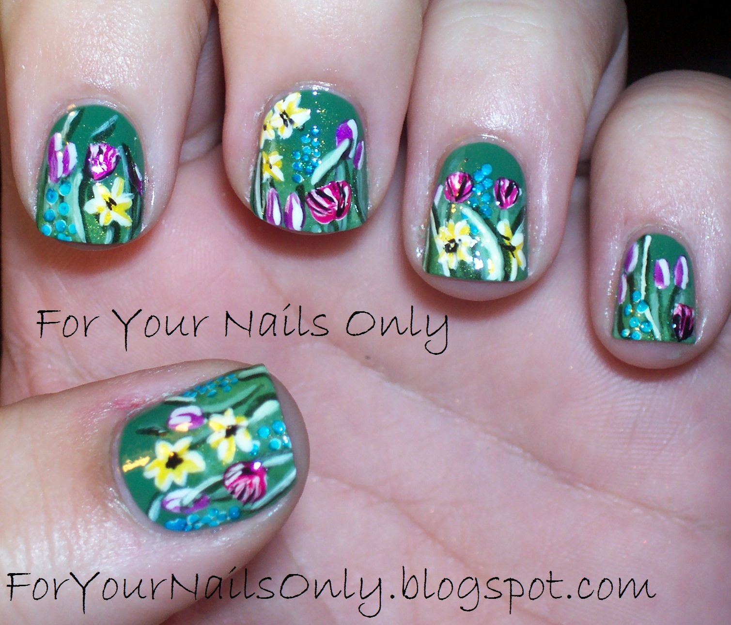 Prettyfulz Fall Nail Art Design 2011: A Weed Is Just An Unplanned Wildflower