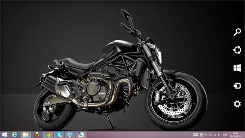 Ducati Monster 821 Dark 2014 Theme For Windos 7 And 8 8.1
