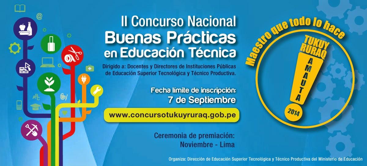 II CONCURSO NACIONAL DE BUENAS PRÁCTICAS EN ED. TÉCNICAS