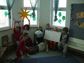 ילדי הגן מתכוננים לטכס ראש חודש