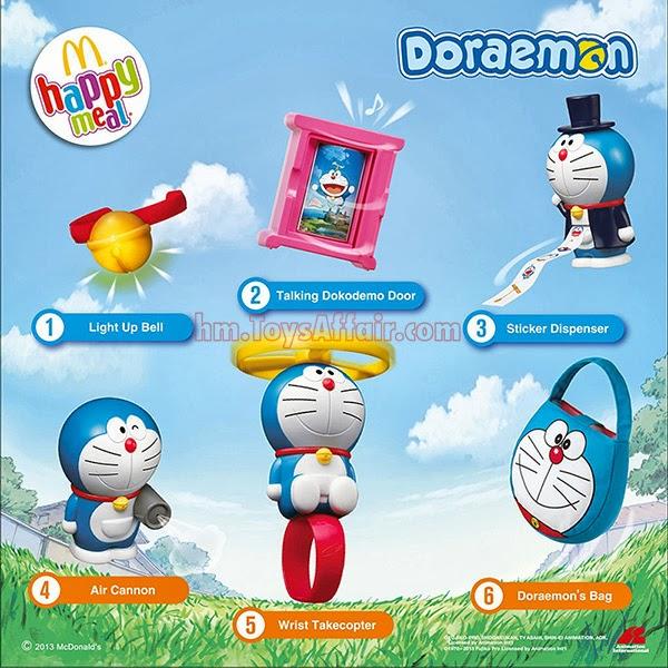 Doraemon Happy Meal Toys