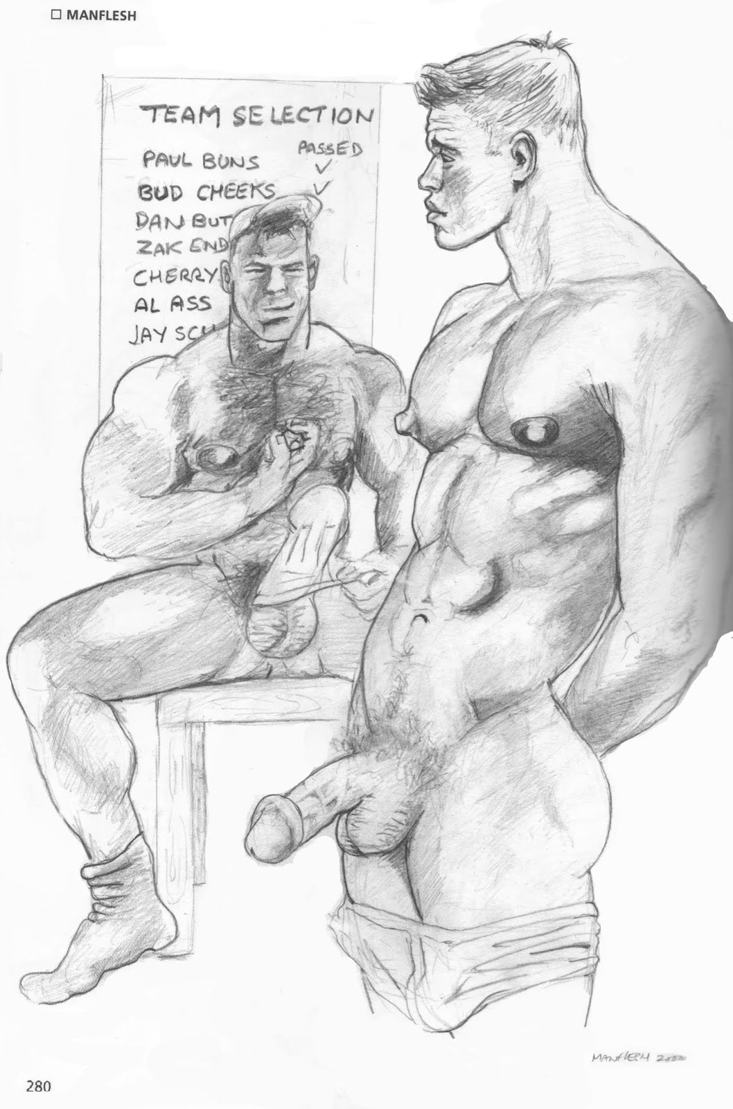 Manflesh artwork in the My Gay Eye Tom of Finland special addition