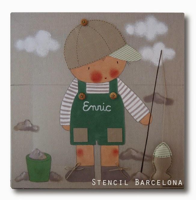 Cuadros personalizados decorar habitaciones infantiles - Stencil barcelona ...