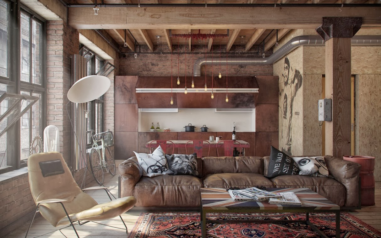 LETS STAY Cool Industrial Loft Design - Loft home design
