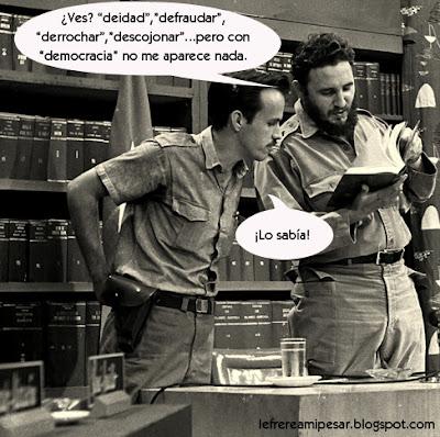 Democracia, Fidel, diccionario