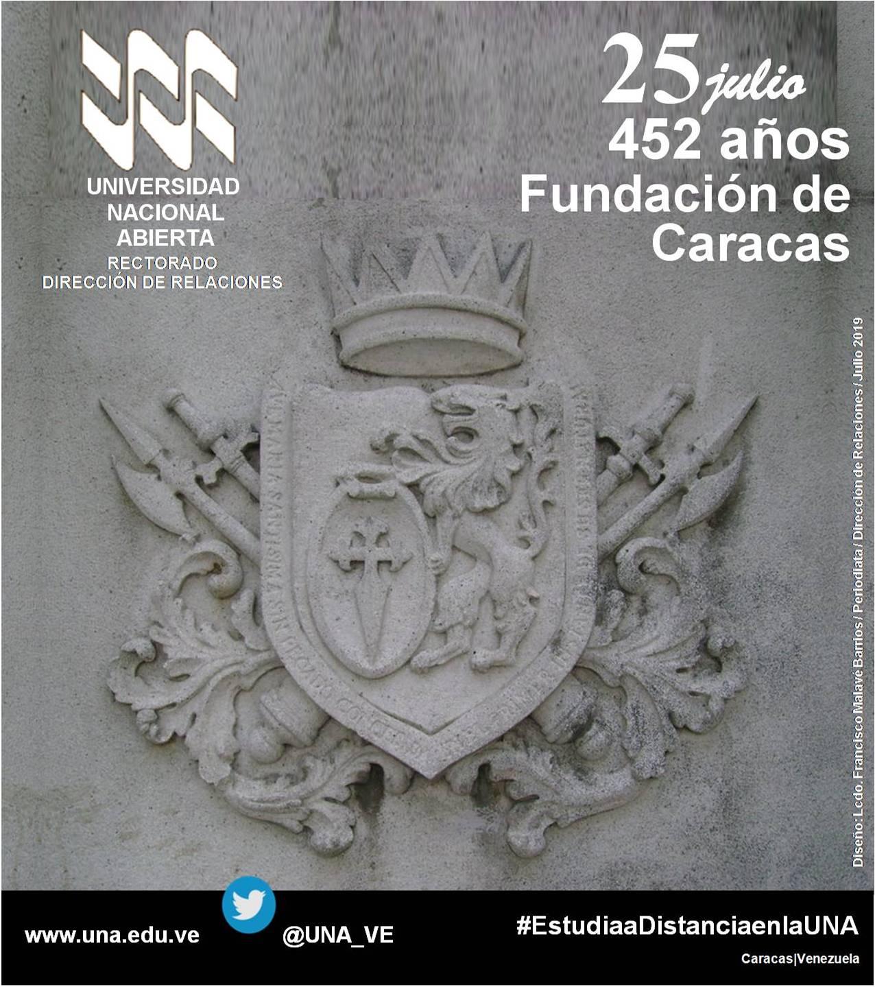 452 años Fundación de Caracas