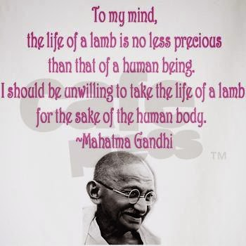 Mahatma Gandhi - Vegetarian Thoughts