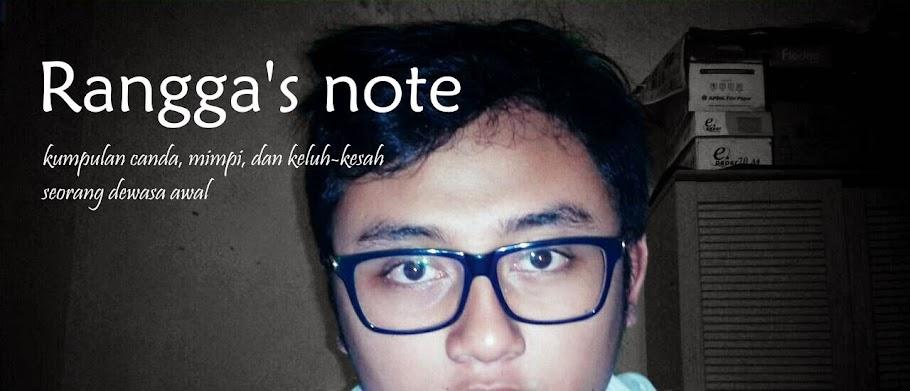 Rangga's note