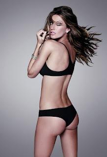 Gisele Bundchen in various bikini pose.