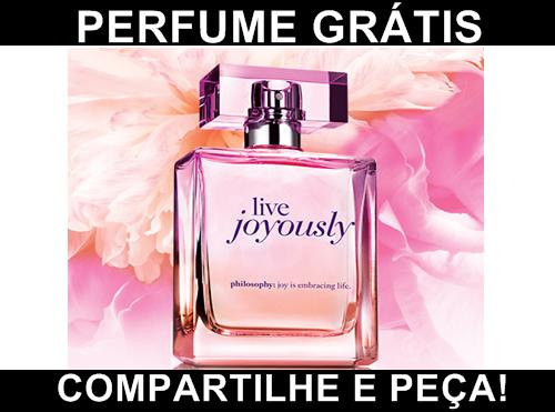 Receba uma Amostra #Gratis do  Perfume Live Joyously