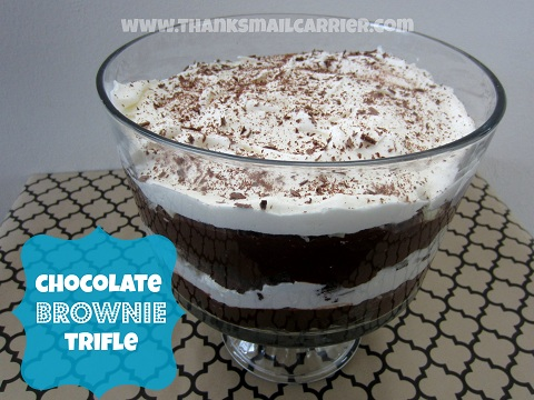 Chocolate Brownie Trifle recipe