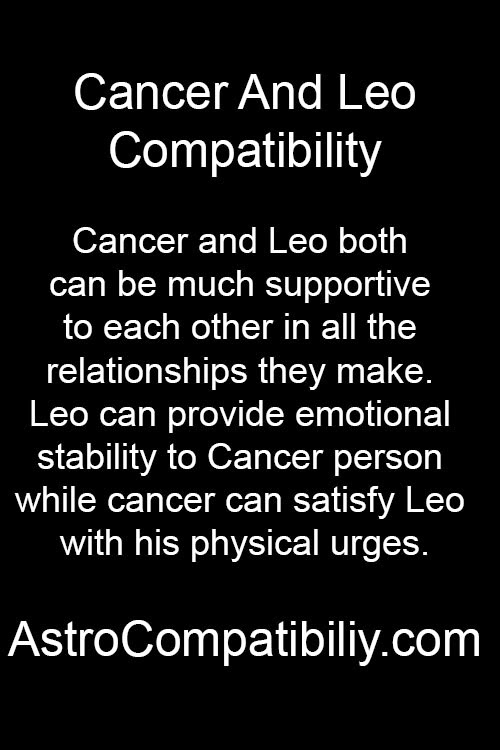 cancer dating a leo