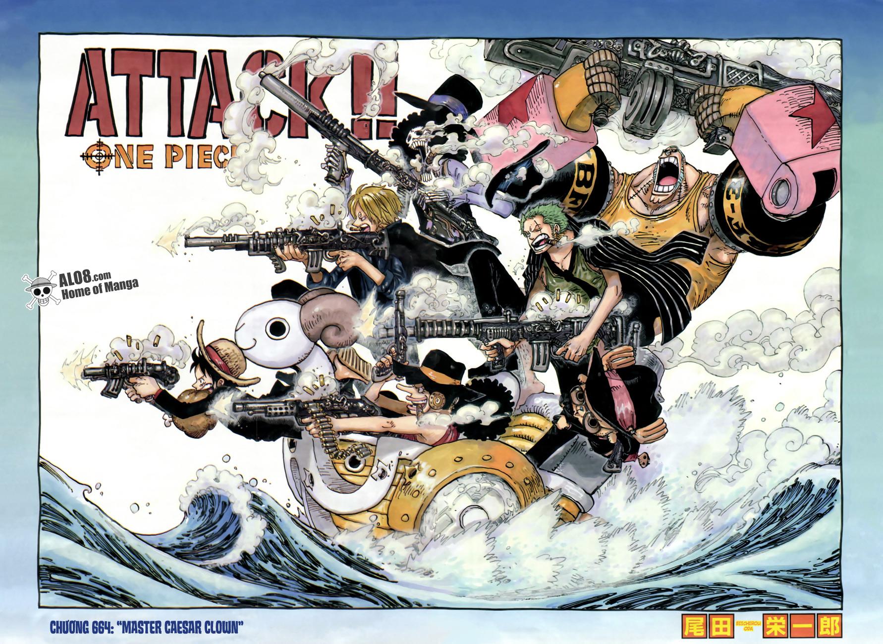 One Piece Chapter 664: Master Caesar Clown 001