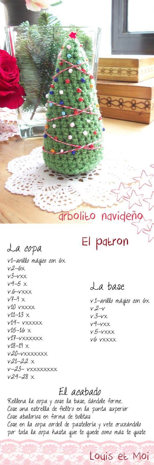 Louis et Moi (cosen y hacen crochet): Patrón de árbol de Navidad de ...