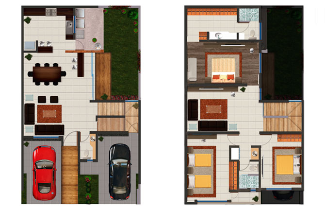Planos de casas y plantas arquitect nicas de casas y for Planta arquitectonica de una oficina