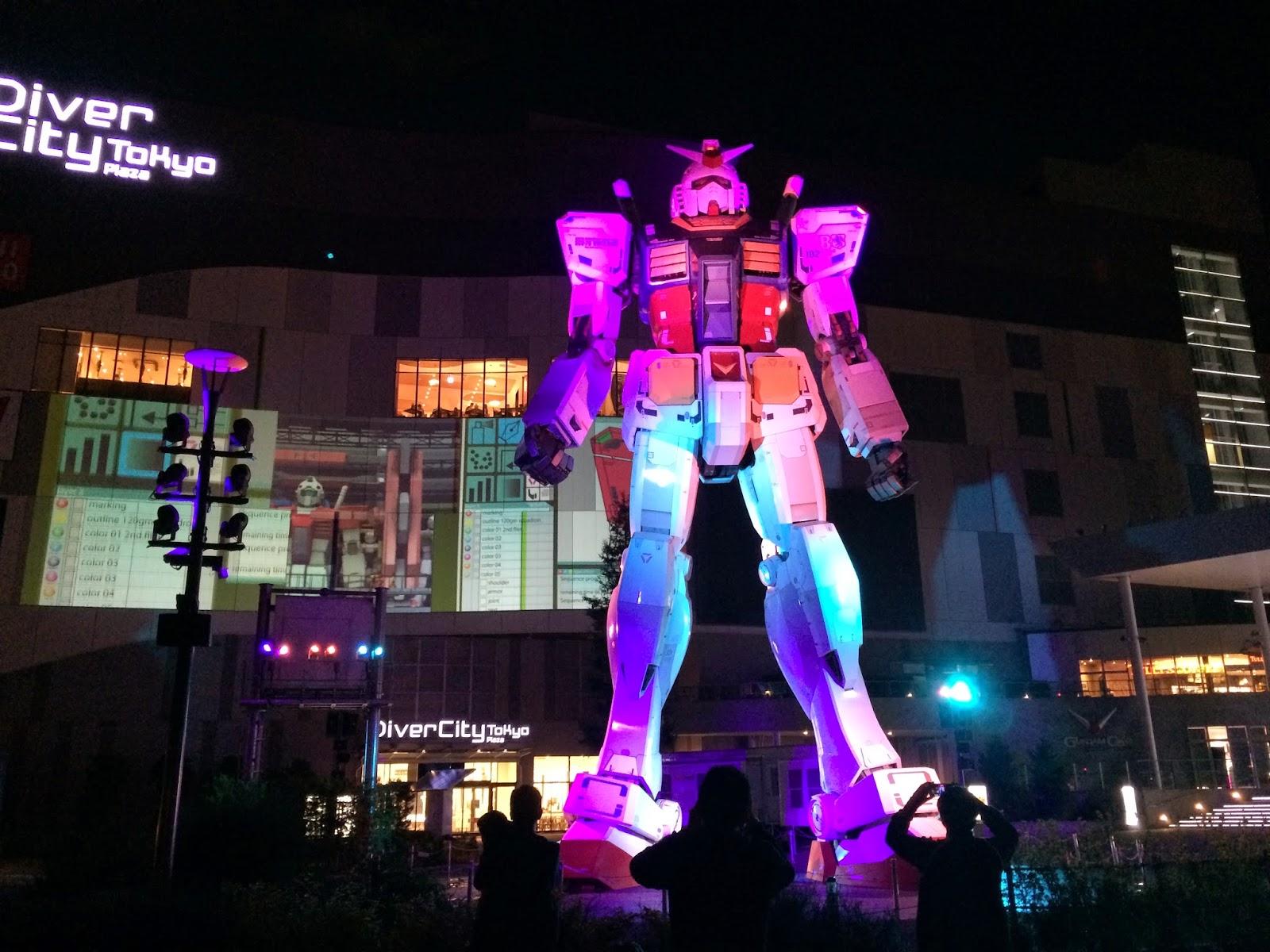 odaiba tokyo japan diver city gundam front