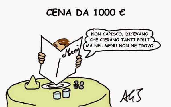 Renzi, cena, satira