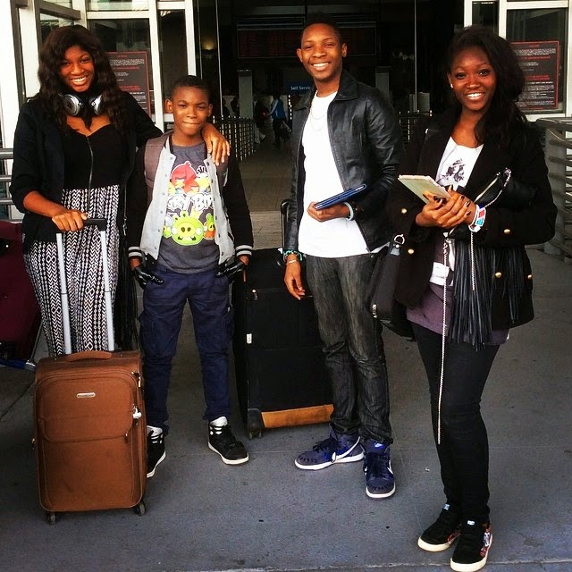 Omotola Jalade Goes On Vacation With Her Family See Her