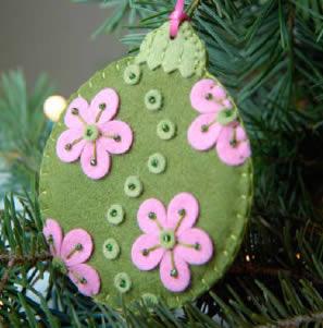 Manualidades bolas para el arbol de navidad en fieltro - Bolas de navidad de fieltro ...