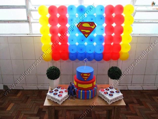 decoracao festa infantil super homem Porto Alegre