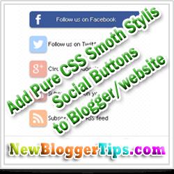 Pure CSS Stylist Smooth Social Button Widget Generator