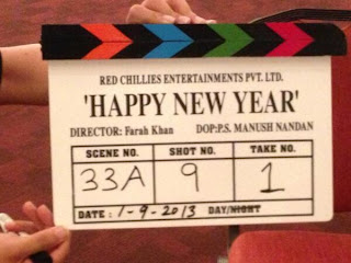 Shahrukh, Deepika, Abhishek on the sets of 'Happy New Year'