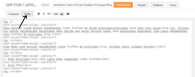cara menambahkan video YouTube ke postingan blog