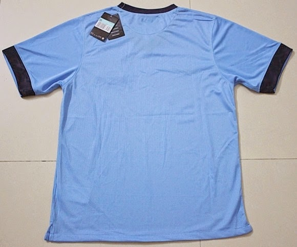 Thailand 14-15 Manchester City Customized Home Light Blue Soccer Jersey