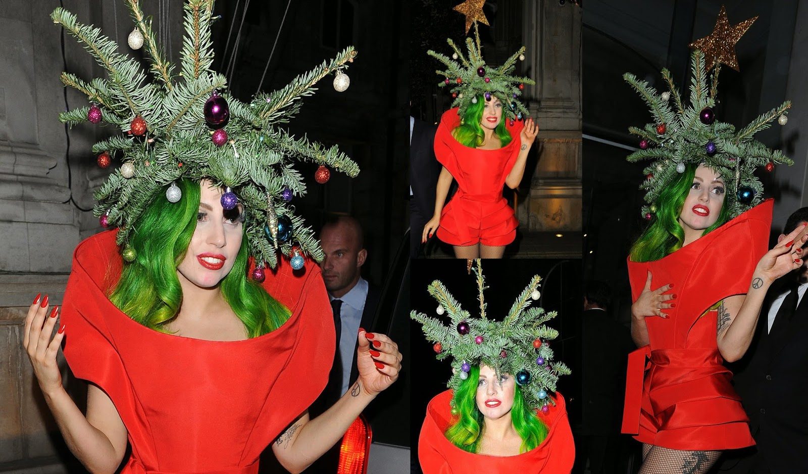 Lady Gaga Halloween Christmas tree