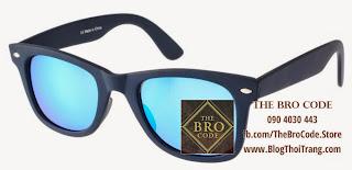 Mắt Kính ASOS Wayfarer Xanh Navy | ASOS Wayfarer Sunglasses Navy Blue