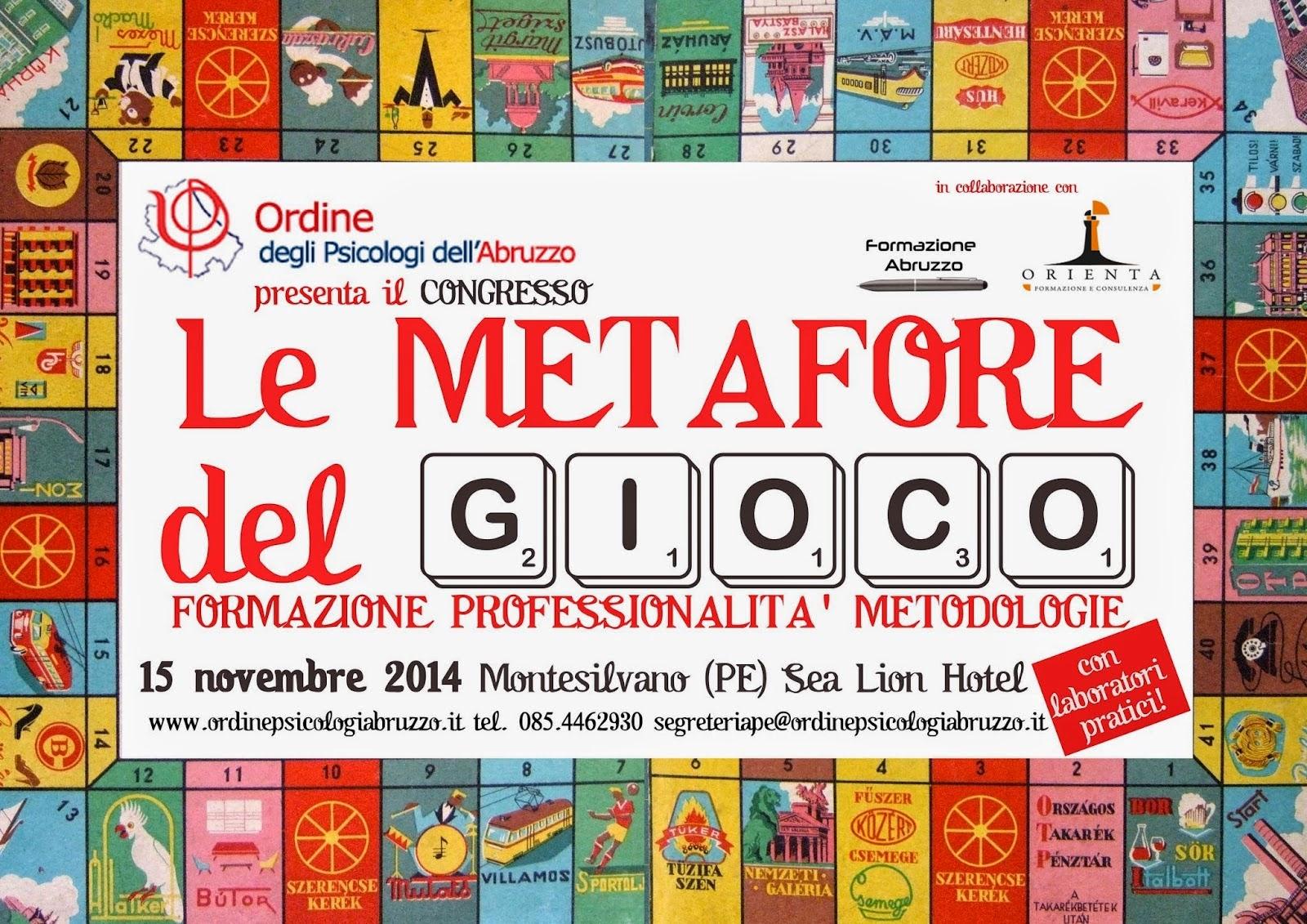 Formazione esperienziale: le metafore del gioco in congresso a Pescara