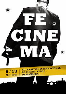 Cartel de la decimocuarta edición del Festival Internacional de Cine Negro de Manresa, que ha sido cancelado. Making Of