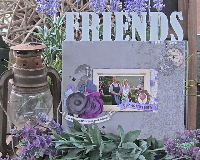 Friends Photo Frame by Megan Gourlay for BoBunny using Penny Emporium