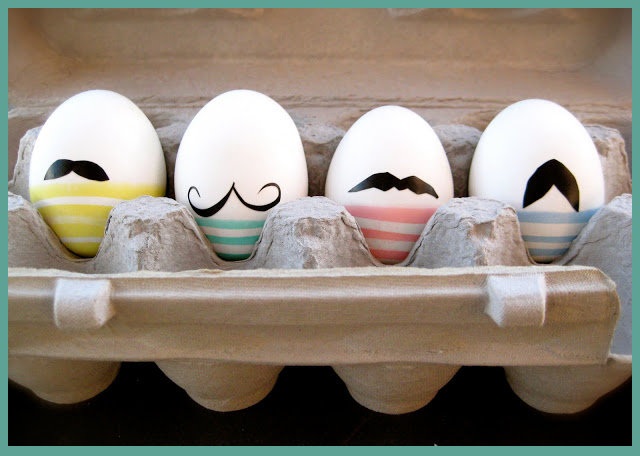 DIY Mustache Easter Eggs Craft Project via Oh What Fun