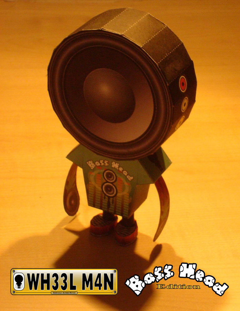 Wheelman Bass Head Paper Toy